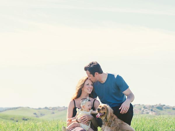 家族とキス