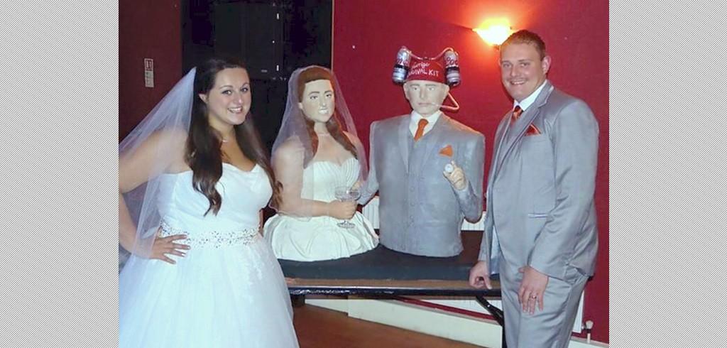 結婚式のサプライズに、本人そっくりの等身大ウェディングケーキはどう?