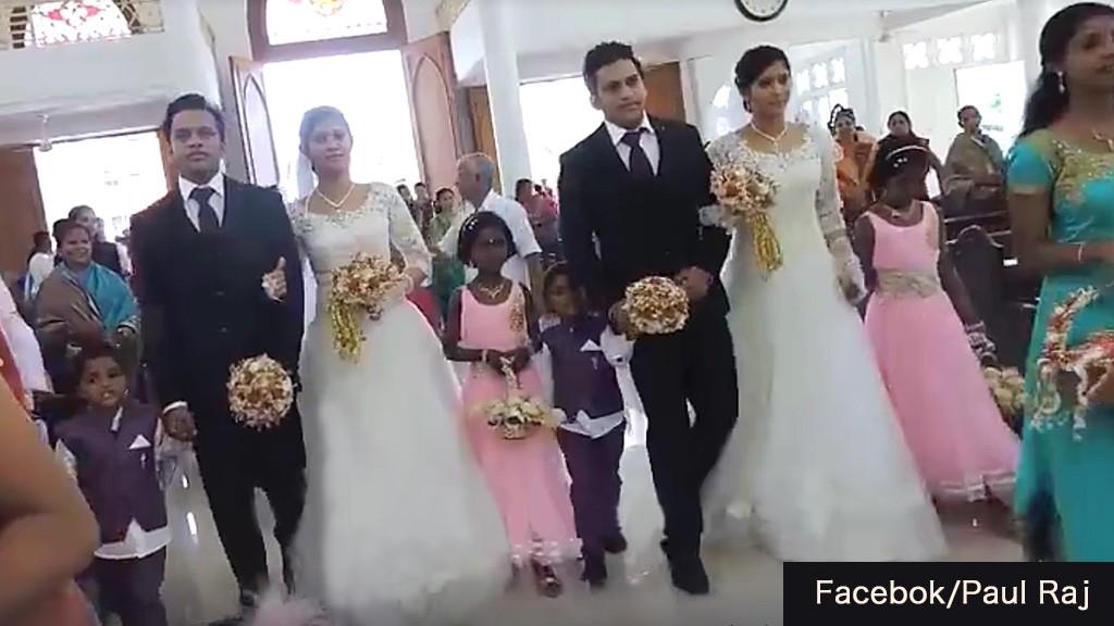 双子だらけの結婚式