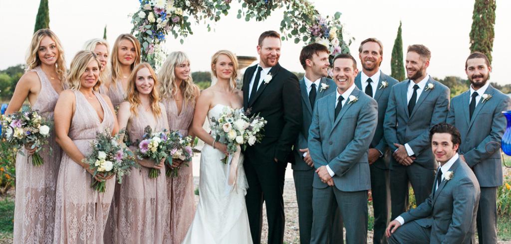 結婚式カップル友人